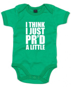 I Think I Just PR'd A Little, Printed Baby Grow