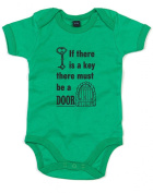 If There Is A Key There Must Be A Door, Printed Baby Grow