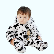 Arrowhunt Baby Cute Cow Outfits Warm Fleece Velvet Rompers