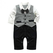 Arrowhunt Baby Boy Formal Party Christening Tuxedo 1pc Waistcoat Suit