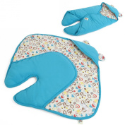 MeZooMe Baby Sleeping Bag Infant Wrapper 100% Organci Cotton Blanket - Blue