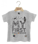Batch1 My First Halloween Cute Fancy Dress Popper Neck Baby T-Shirt