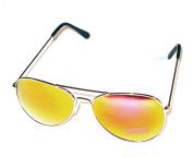 Mirror Aviator Sunglasses - Gold