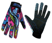 QEPAE® Breathable Cycling Gloves Anti-slip Full Finger Gel Gloves for Bicycle Riding Skiing - Gorgeous Colour
