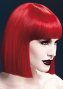 Womens Halloween Deluxe Gothic Red Blunt Lola Wig