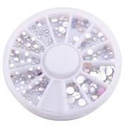 MultiWare Rhinestones For Nails AB Diamantes 3D Rhinestones 6 Size 300Pcs