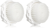 Magnitone London Silk Bliss Replacement Brush Head - White, Pack of 2