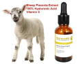 PLACENTA EXTRACT 100% HYALURONIC ACID VITAMIN C WRINKLE REMOVAL COLLAGEN SERUM 1oz/30ml