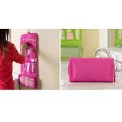 Fieans Super Cute Ladies Make-up Bag Brush bag Bathroom Bag Wash Bag Toiletry Bag Cosmetic Bag -Pink