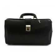 Doctor Leather Bag Black - Genuine Leather Bags Made In Italy - Business Bag
