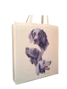 Weimaraner Group Breed of Dog Cotton Shopping Bag with Gusset and Long Handles Perfect Gift