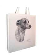 Whippet MS Cotton Shopping Bag with Gusset and Long Handles Perfect Gift