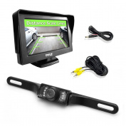 Pyle PLCM46 LCD Monitor Rear View Reversing Licence Plate Night Vision Camera