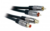 APM France 800008 Cable 2 x RCA Male to 2 x RCA Male 2 m Black
