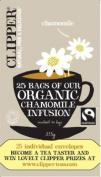 Clipper Fairtrade Organic Chamomile Tea Envelopes String & Tag Pack 25 Ref A07402