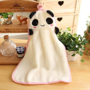 MMRM Plush Panda Style Hanging Hand Towel Baby Kids Soft Fabric Bathing Nursery Wipe
