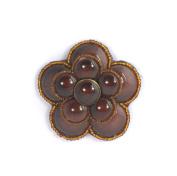Camellia Flower Brooch Fantasy Jewellery Craft Porcelain Brown