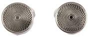 Silver Round Links Centre Point Cufflinks by David Aster