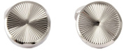Silver Round Links Roulette Cufflinks by David Aster