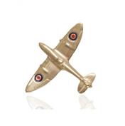 Sterling Silver RAF Spitfire Aeroplane Tie Pin.