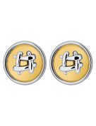 Gold and Silver Plated Cabouchon Clip-on Earrings