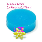 045LBJ Snowflake Silicone Push Mould 12mm - Air Dry Polymer Clay Sugarcraft Cake Decorating Fondant Moulds, Fake Food Mould