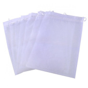 25pcs White Organza Silk Bag for Jewellery Gift Sugar Coins Seeds Storage Wedding Pouch Bags 20cmx30cm