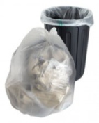 10 Large Strong Clear Plastic Polythene Bin Liners Bags Sacks Size 18 x 70cm x 100cm Refuse Rubbish Waste Recycling Dustbin
