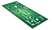 Green Festive Christmas Typography design Bar Runner great gift idea home bar shop cocktail party advertising tool bar mat