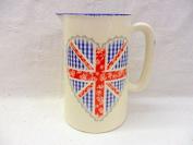 Union Jack gingham heart 1 pint jug