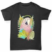 Twisted Envy Girl's Rainbow Lorikeet Parrot Organic Cotton T-Shirt