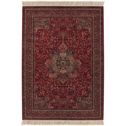 Couristan 0612/3337 KASHIMAR All Over Centre Medallion 140cm by 210cm Wool Area Rug, Antique Red