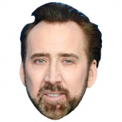Nicolas Cage (Beard) Celebrity Mask, Cardboard Face and Fancy Dress Mask