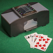 Tobar Automatic 2 Deck Card Shuffler Machine - Includes 2 Packs of Playing Cards