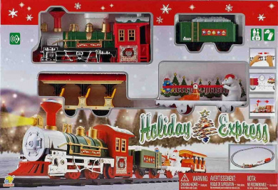 Christmas Holiday Express Festive Train Set Toy