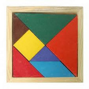 WOODEN PUZZLE MULTI COLOURED - FUN - GAME - TOY - STOCKING FILLER