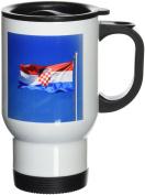 3dRose Croatian Flag-EU32 PRI0033-Prisma Stainless Steel Travel Mug, 410ml