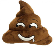 Weitengs Stuffed Pillow Cushion Emoji Poop Shaped Smiley Face Doll Toy Poo Shape Pillow