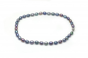 HinsonGayle AAA Handpicked 8-8.5mm Multicolor Oval Freshwater Cultured Pearl Necklace 18""