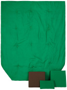bkb Solid Colour Toddler Bedding, Green and Brown/Pink and Brown