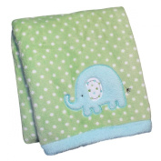 Carter's Embroidered Sherpa Blanket - Elephant