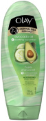 Olay 2-in-1 Essential Oils Ribbons Moisturising Body Wash - Soothing Cucumber - 300ml