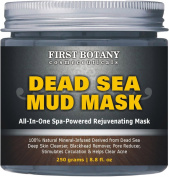 100% Natural Mineral-Infused Dead Sea Mud Mask 260ml for Facial Treatment, Skin Cleanser, Pore Reducer, Anti Ageing Mask, Acne Treatment, Blackhead Remover, Cellulite Treatment & Natural Moisturiser