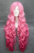 THZ women's long pink curly cosplay wigs