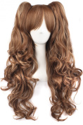 MapofBeauty Multi-colour Lolita Long Curly Clip on Ponytails Cosplay Wig