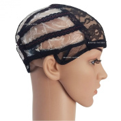 Beauties Factory Adjustable Straps DIY Wig Weaving Cap Feature Lines Positioned at the back