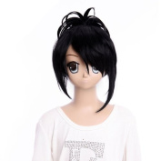 Gooaction Gintama ,nine Samurai,Cosplay Long Black Wig Ponytails Wigs