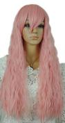 Winson Cute Girl Lady New Rhapsody Long Light Pink Curl Wavy Fluffy Cosplay wig