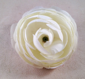 New Medium Ranunculus Hair Clip/Pin Brooch