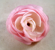 New Medium Ranunculus Artificial Flower Hair Clip/Pin Brooch
